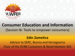 Consumer Education and Information