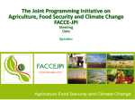 General presentation JPI Agricultue, Food Security and Climate