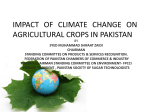 impact of climate change on agricultural crops in pakistan