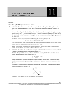 ROTATIONAL VECTORS AND ANGULAR MOMENTUM