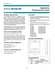 DS9034PCX - Maxim Integrated