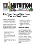 Fats, Trans Fats and Your Health… What You
