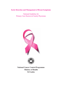 Early Detection and Management of Breast Symptoms National