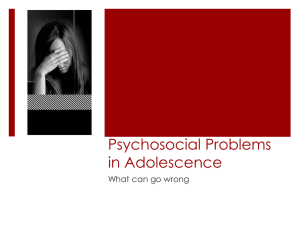 psychosocial problems in adolescence
