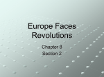 Europe Faces Revolutions