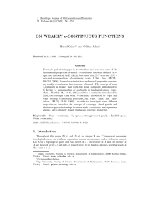 ON WEAKLY e-CONTINUOUS FUNCTIONS