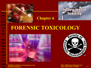 Toxicology Notes 2012