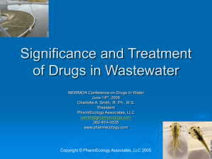 Significance and Treatment of Drugs in Wastewater