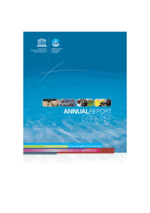 Intergovernmental Oceanographic Commission of UNESCO: annual