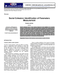 Social Cohesion: Identification of Parameters Measurement