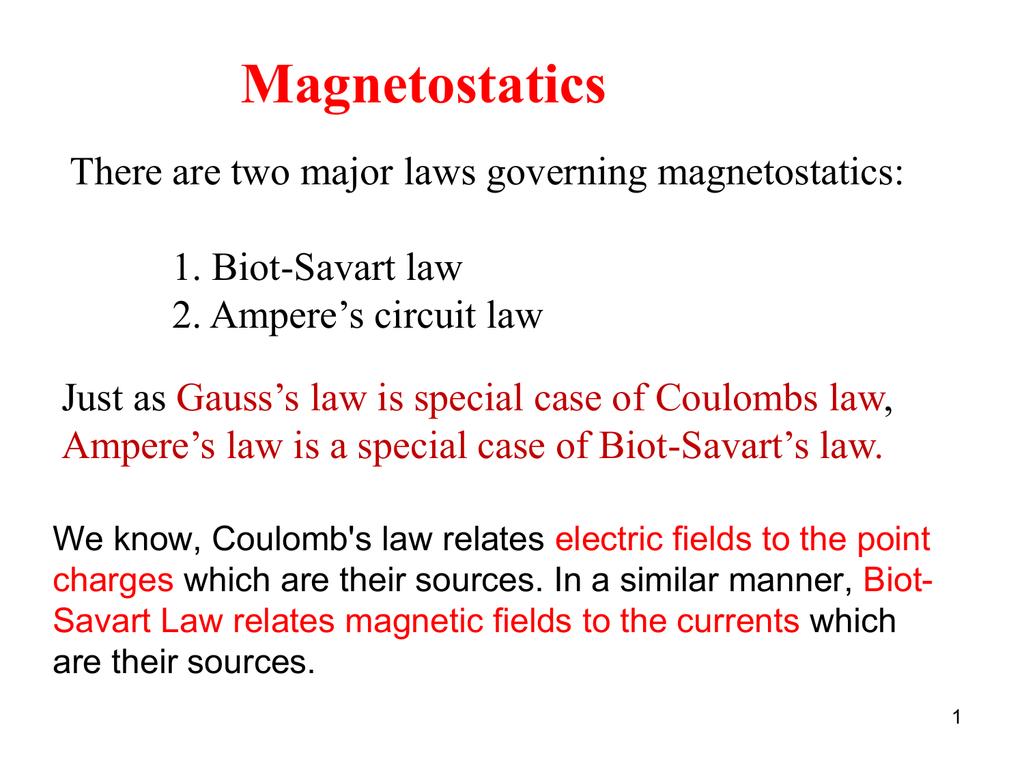 Biot-Savart Law