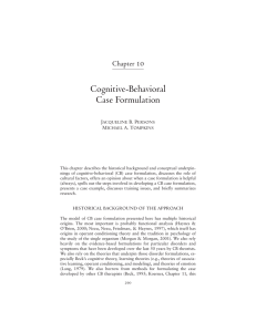 Cognitive-Behavioral Case Formulation
