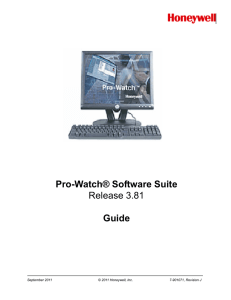 Pro-Watch® Software Suite Release 3.81 Guide