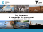 Env 2016 - Data democrary - a new deal for the environment