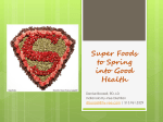 Spring into Super Foods