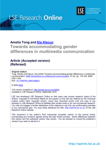 Towards accommodating gender differences in multimedia