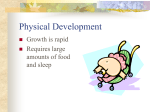 Physical Development - PSYC DWEEB