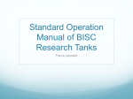 Standard Operation Manual of BISC Research Tanks