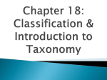 Taxonomy and Dichotomous Key Notes
