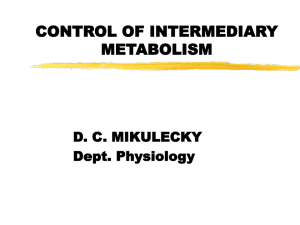 control of intermediary metabolism