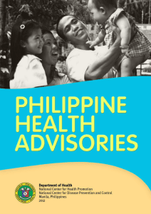 Philippine Health Advisories 2012