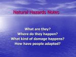 Natural Hazards Notes