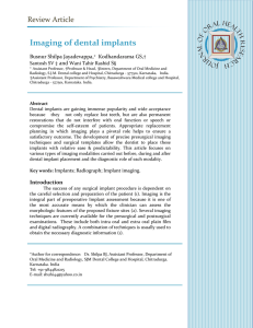 Imaging of dental implants - Journal of Oral Health Research