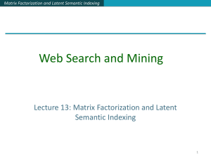 Matrix Factorization and Latent Semantic Indexing