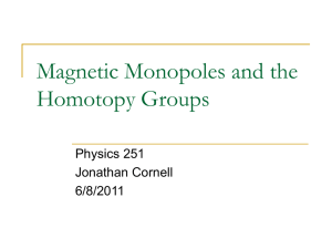Magnetic Monopoles and Group Theory