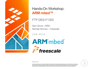 nds-On Workshop: ARM mbed*: From Rapid Prototyping to Production