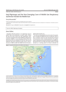 Hajj Pilgrimage and the New Emerging Cases of Middle East