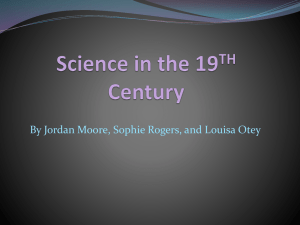Science in the 19TH Century