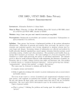 CSE 598D / STAT 598B: Data Privacy Course Announcement