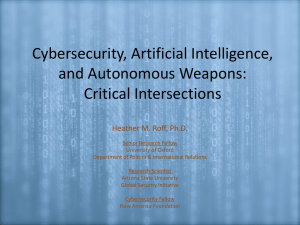Cybersecurity, Artificial Intelligence, and Autonomous