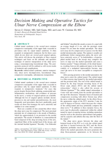 Decision Making and Operative Tactics for Ulnar Nerve