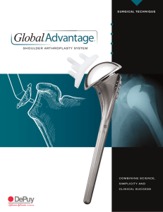 global advantage shoulder arthroplasty system