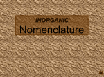 Nomenclature - Normal Community High School Chemistry