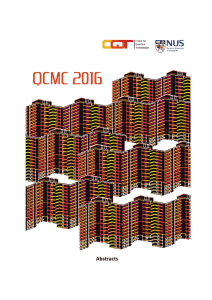 Abstracts - QCMC 2016 - Centre for Quantum Technologies