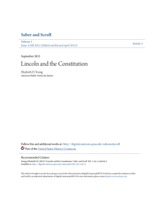 Lincoln and the Constitution - DigitalCommons@APUS