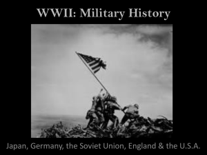 WWII Military History