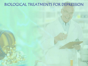 Biological Treatments for depression (PPH) 2011