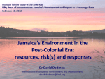 Jamaica`s Environment in the Post-Colonial Era - SAS