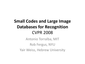 Small Codes and Large Image Databases for Recognition