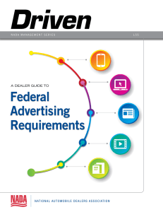 A DEALER GUIDE TO Federal Advertising Requirements