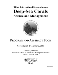 3rd International Symposium on Deep-Sea Corals