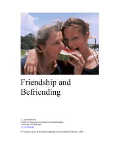 Friendship and Befriending