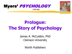 Prologue: Psych`s Roots