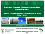National Climate Change Stakeholder Consultations