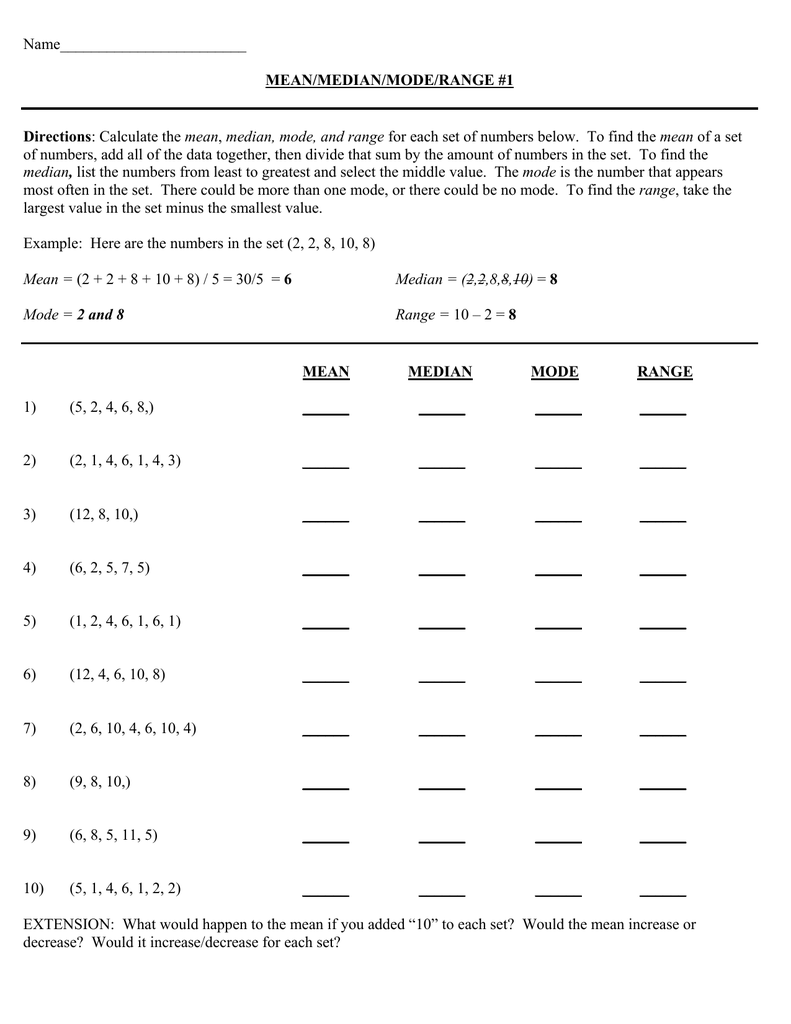 worksheet Mean Median Mode Range Printable Worksheets mode median and range worksheets adding subtracting radicals worksheet mean practice solving exponential 003722476 1 6a376d0bec392878c0fb62332d324890 pract
