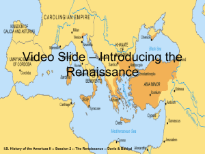 PowerPoint on The Renaissance